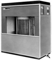 IBM 350 Disk Storage Unit was rolled out in 1956 to be used with the IBM 305 RAMAC to provide storage capacities of five, 10, 15 or 20 million characters (Credit:IBM)