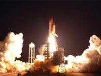 STS-123 Heading for Space Station