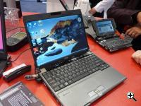 Fujitsu's LifeBook P8010 (left) the new Fujitsu LifeBook U810 with HSDPA (right)