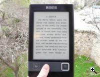 Cybook - great for reading outdoors