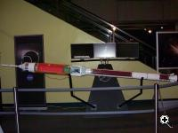 Scale model of the Ares I rocket