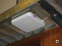 RFID Detectors are attached to exposed ducts in the building's hallways (Credit: University of Washington)