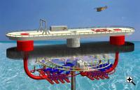 Sea solar power plant concept (Credit: Sea Solar Power International)