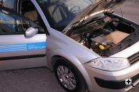 A Renault Megane transformed into an electric car (Credit: Project Better Place)