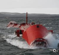 Pelamis wave power technology in action (Credit: Pelamis Wave Power)