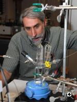 Daniel G. Nocera, the Henry Dreyfus Professor of Energy at MIT, has developed a simple method to split water molecules and produce oxygen gas, a discovery that paves the way for large-scale use of solar power. Photo / Donna Coveney