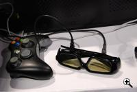 nVIDIA's 3D Vision for GeForce glasses with a gamepad