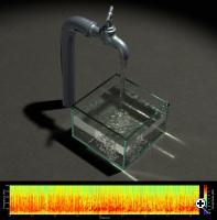 A graph of the sound waves made by dripping water (Credit: Cornell University)