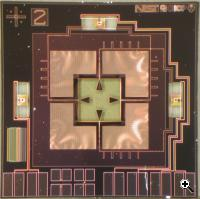 Micrograph of prototype microwave detector (Credit: NIST)