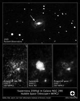 NASA's Hubble Space Telescope has identified a star that was one million times brighter than the sun before it exploded as a supernova in 2005. According to current theories of stellar evolution, the star should not have self-destructed so early in its life.
