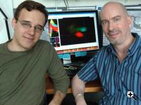 Professor Earl Miller and postdoc Timothy Buschman of the Picower Institute (Source: MIT/Donna Coveney)