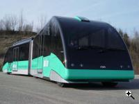 AutoTram offers is fast-charge docking stations positioned at the stops along the route. (Source: Fraunhofer Institute)