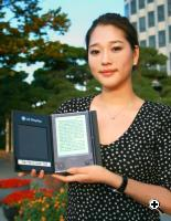 The prototype e-book was on display at the International Meeting on Information Display (IMID 2009) at KINTEX, Gyenggi, Korea. Demd. (Source: Credit: LG Display)
