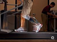 Spring ankle with regenerative kinetics device (SPARKy) is lighter than most passive prosthetics. (Source: Arizona State University)