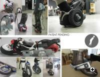 Different views of Peter Treadway's motorized electronic footwear. (Source: Peter Treadway)
