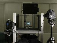 3D object shown on the display is photographed by two stereo cameras (Credit: University of Southern California)