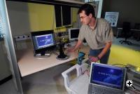 Prof. Stephane Pinel in the lab