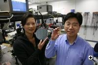 Intle's Ling Liao and Ansheng Liu in the lab (Credit Intel)
