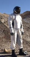 The IS3C spacesuit demonstrated (Credit: Orbital Outfitters)