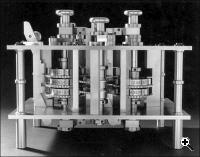 A portion of a reconstructed Difference Engine, built from Babbage's working drawings in 1991
