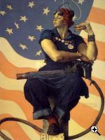 US Propaganda poster depicting Rosie the Riveter (Library of Congress)