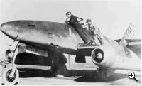 An Me 262 during operational evaluation, Spring 1944 (Credit: NARA – public domain)