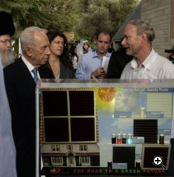 Barry Breen with Israeli president Shimon Peres