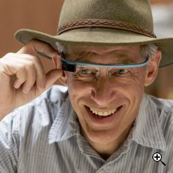 Marc Levoy with Google Glass (Credit: Chris Chabot)
