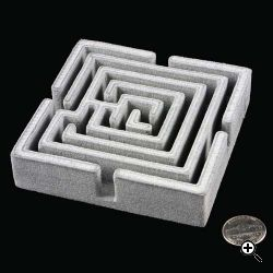 A maze printed with a Desktop Factory printer. Source: Desktop Factory