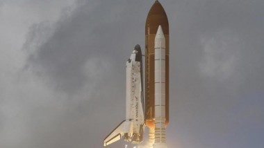 STS-120 Takes Off With a Lightsaber