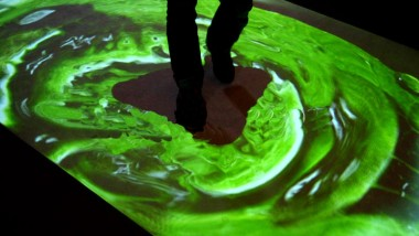 Sensitive Floor –  an interactive video floor projection