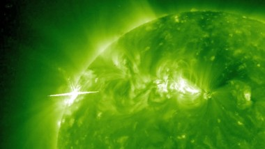 Massive Solar Flare on a Nearby Star