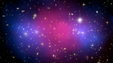 Galaxy Clusters Collision Captured
