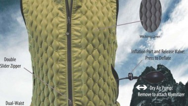 Inflatable Jacket Keeps you Warm with Argon Gas