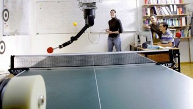 Robot Actively Learn to Play Table Tennis