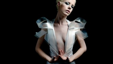 Dress Turns Transparent Based on Model's Heartbeat