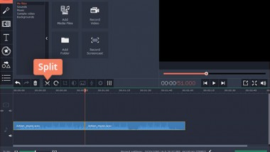 Combining Audio Files Using Movavi Video Editor
